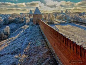 Крепостная зимой